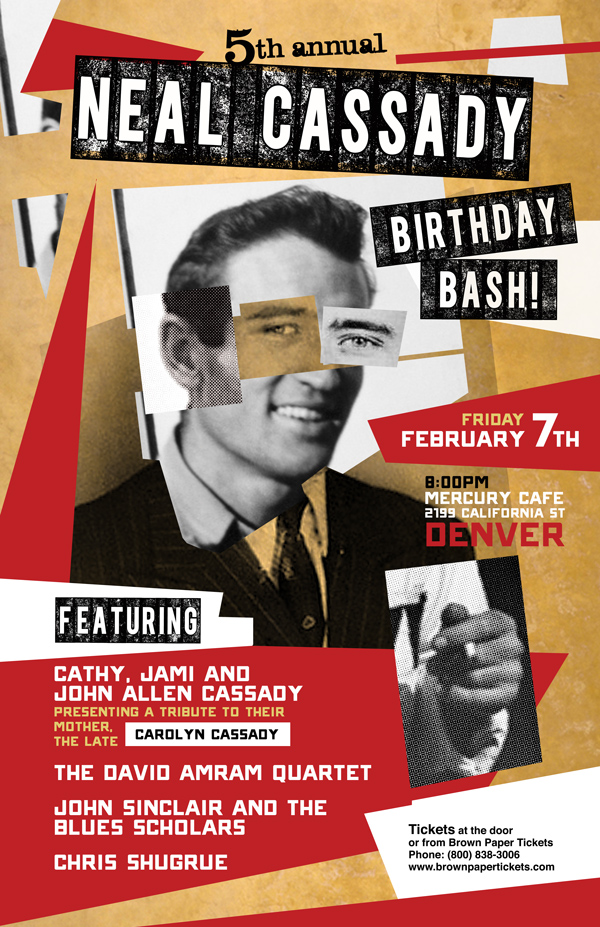 Neal Cassady Bday 5th Annual Poster small